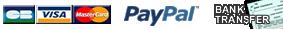 CB / Paypal / Bank transfert